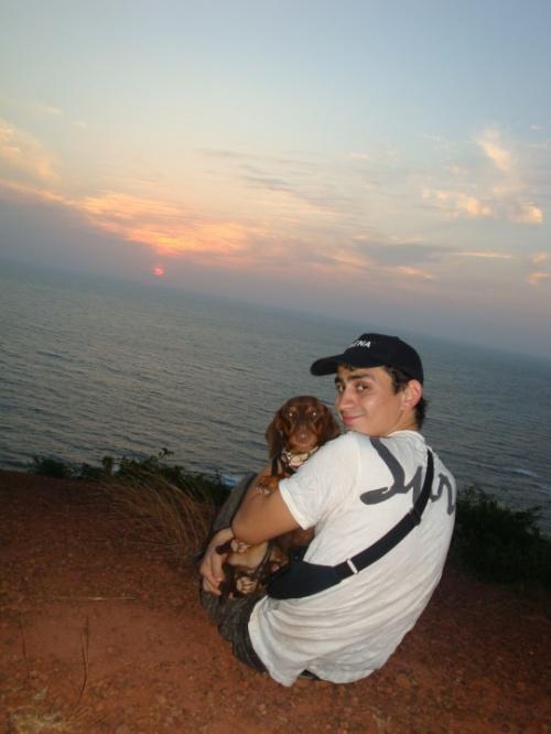На горе с собакой =))