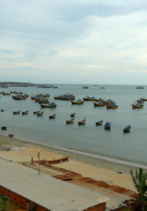 Рыбацкая гавань в Mui Ne.