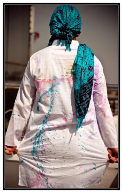 А это я, вид со спины, платок очень помог!