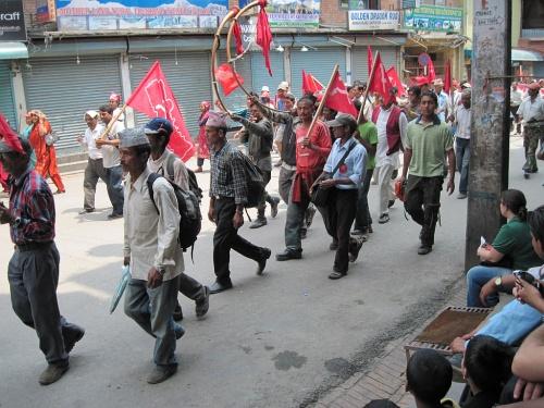 мая: обратный проход демонстрантов по Тамелю