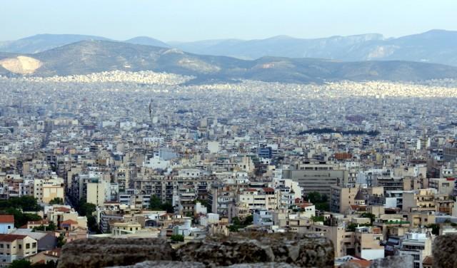 Афины расположены в чашеобразном углублении, на западном побережье Аттики