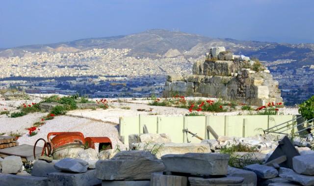 Вид на город с вершины Акрополя