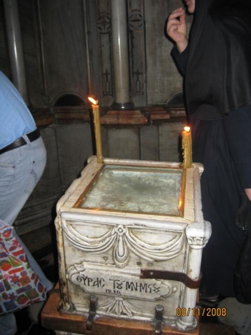 Камень, которым было закрыто последнее пристанище Христа, откуда он вознесься