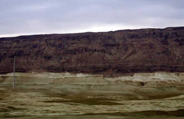 Соляной пейзаж  -  дно древнего моря