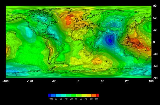 Гравитационна карта Земли