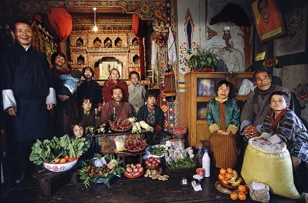 Семья из Бутана
