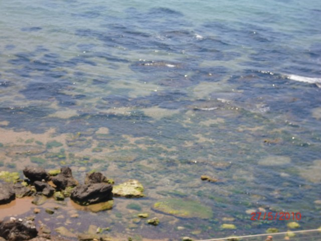 Вода в море прозрачная даже с высоты 30 метров