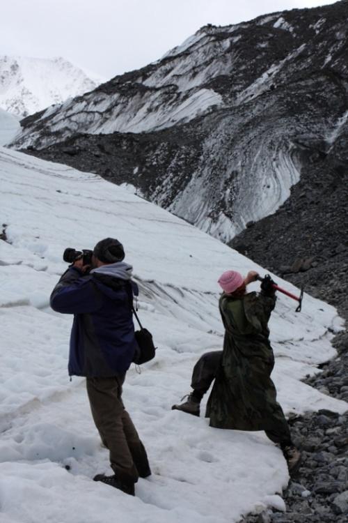 Сьемка и уничтожение ледника Маашей