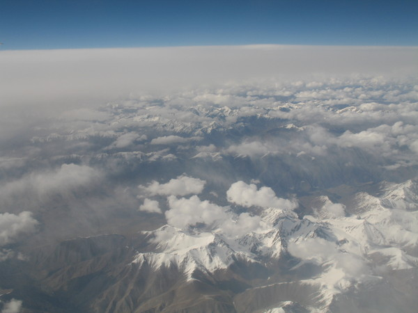 Небо над Тибетом . Вид из иллюминатора.