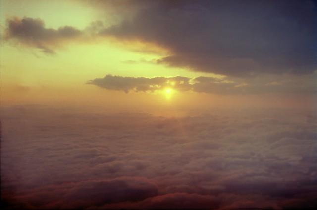 восход в небе