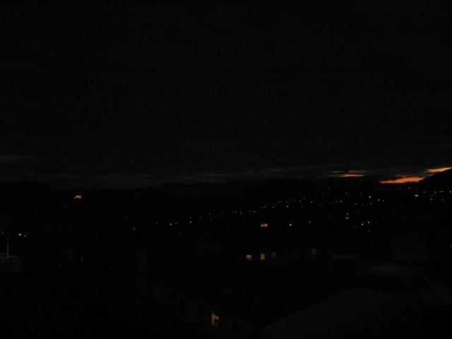 На город опустилась ночь