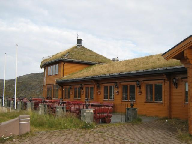Ресторан на горЕ. Пятиконечная звезда  как символ победившего в Норвегии социализма. Хоть страна  до сих пор является королевством :-)