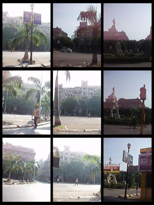 улицы Мумбая (вид из окна машины)