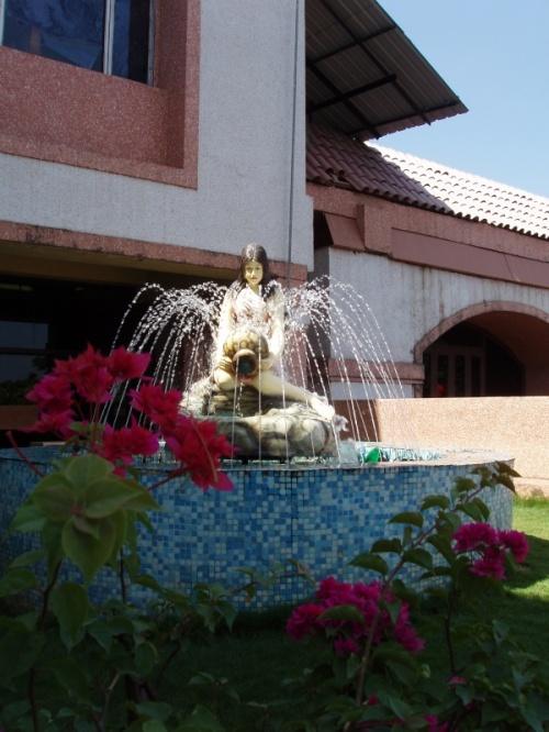 фонтан в аэропорту Даболима