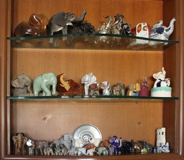 колекция слоников со всего света - тоже хобби т. Амины