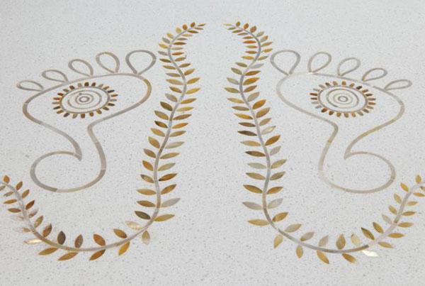 Падука в Шуддхи комната приветствуют вас (индийский символизм)