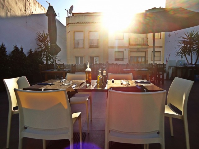 на крыше ресторана La Quinta