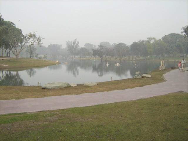 мемориал Ганди - территория