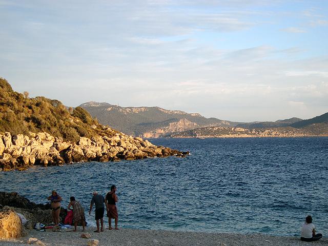 Пляж под Кашем на закате