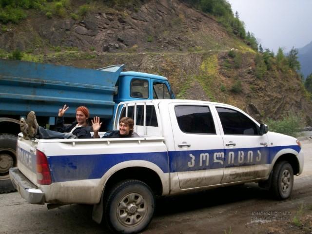 Хаиши. Один из способов автостопа в Грузии
