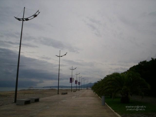 Батуми. Городской пляж после дождя