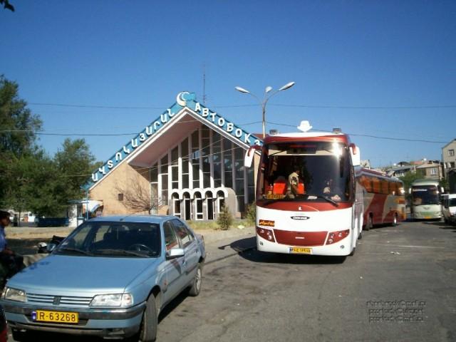 Ереван. Автовокзал. Отправляется автобус в Иран