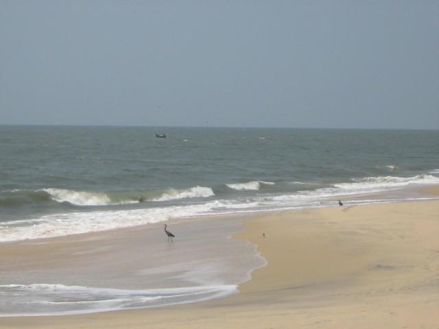 Пляж на расстоянии 3-метров от нее.