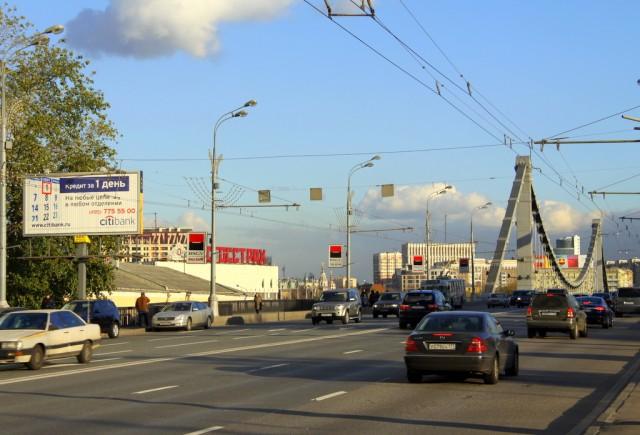 От Крымской эстакады через Крымский мост