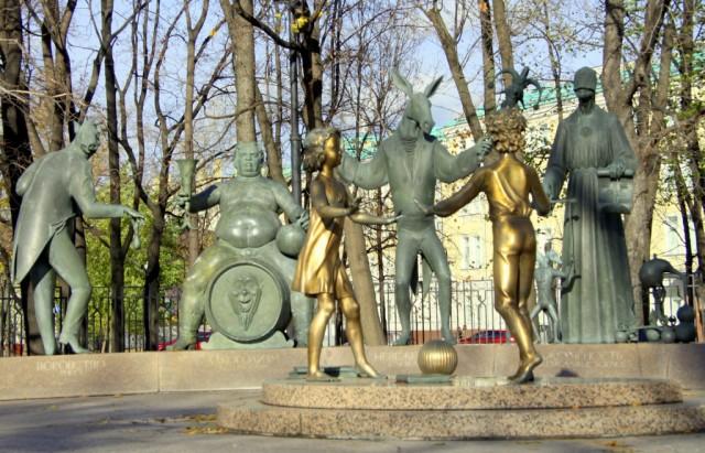 Скульптурная композиция или прикол М.Шемякина?