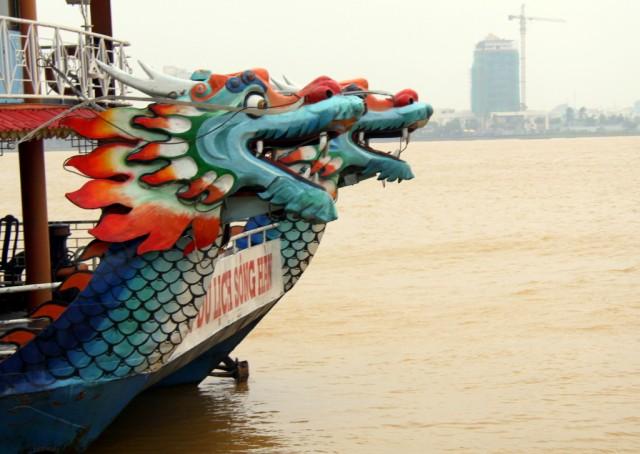 Красноголовые драконы в Дананге