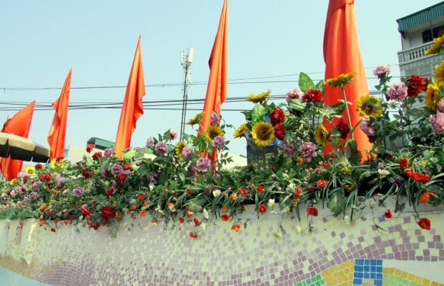 Бутафорские цветы