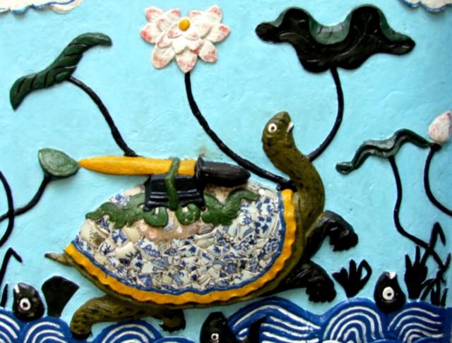 Черепаха с возвращенным золотым мечом
