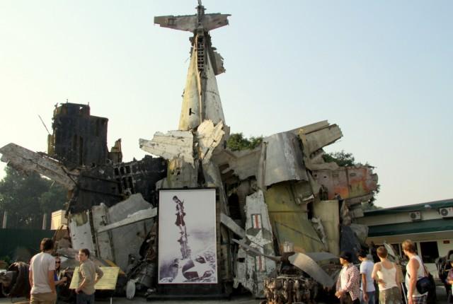 Обломки сбитого Б-52