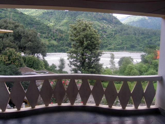 Ганга с нашего балкона