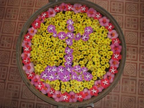 Добро пожаловать (в каждом отеле, чан со свежими узорами из цветов) Вид сверху