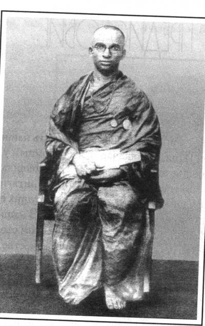 Кришнамачарья по окончании учёбы в университете, 1925 г.