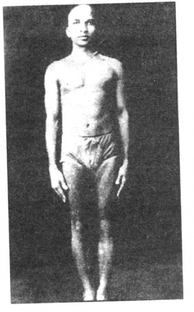 Кришнамачарья   в   возрасте   46  лет   в самастхити.