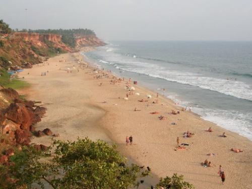 Самый большой и известный пляж Варкалы