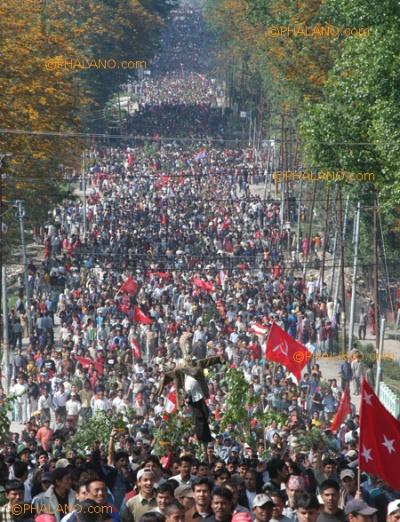 one million demonstrators
