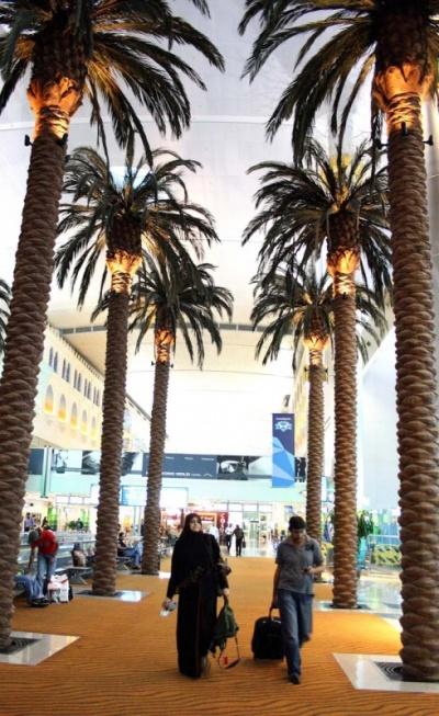 Пальмова аллея в терминале 1