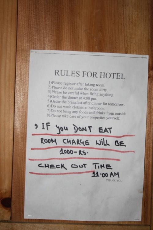 """правила в комнате гостиницы """"Боб Марли"""""""
