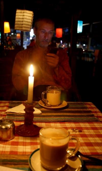 вечерний чай в кафешке