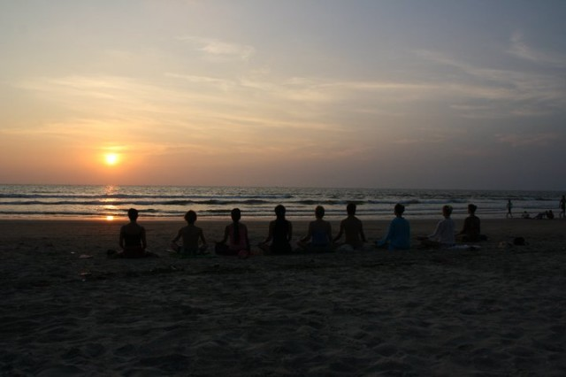 медитация на закат