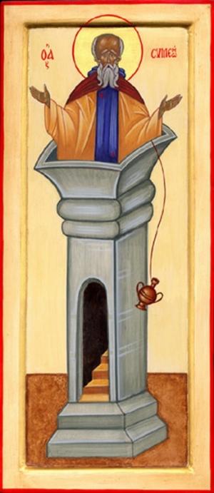 православная икона Симеона Столпника