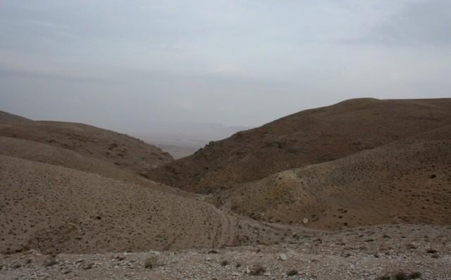 пустынные виды над монастырем