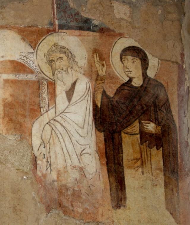 самые древние фрески монастыря