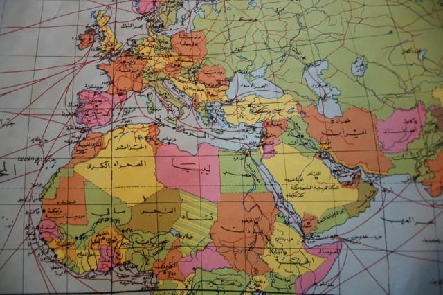 карта мира на арабском