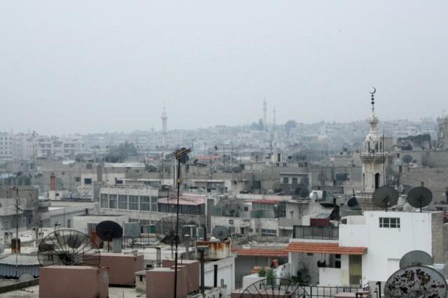 вид на утренний Дамаск