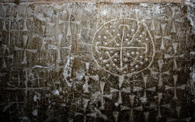 кресты высеченные рыцарями-крестоносцами достигшими Земли Обетованной