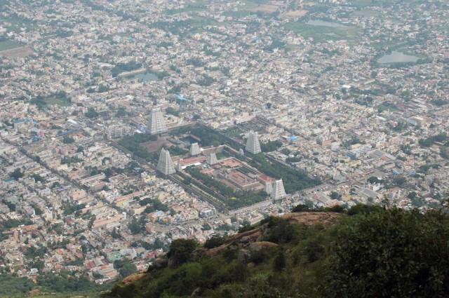 Аруначалешвар с высоты Аруначалы